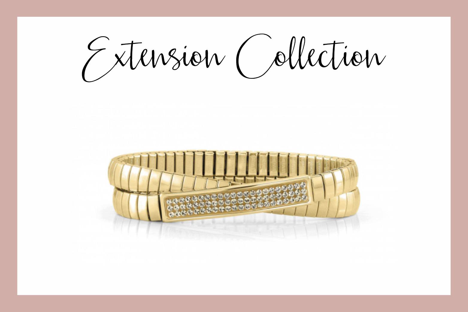 Pulsera Extensible Glitter in oro
