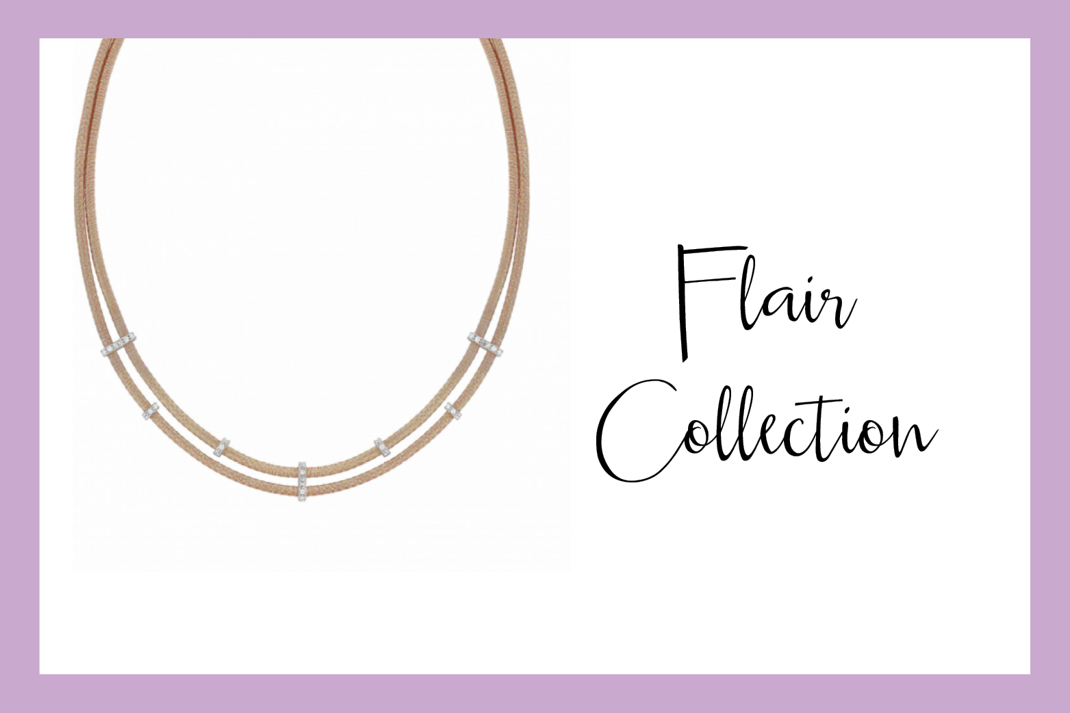 Collier Flair double tour