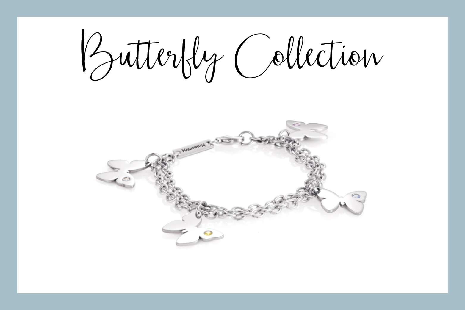 Butterfly Bracelet with pendants