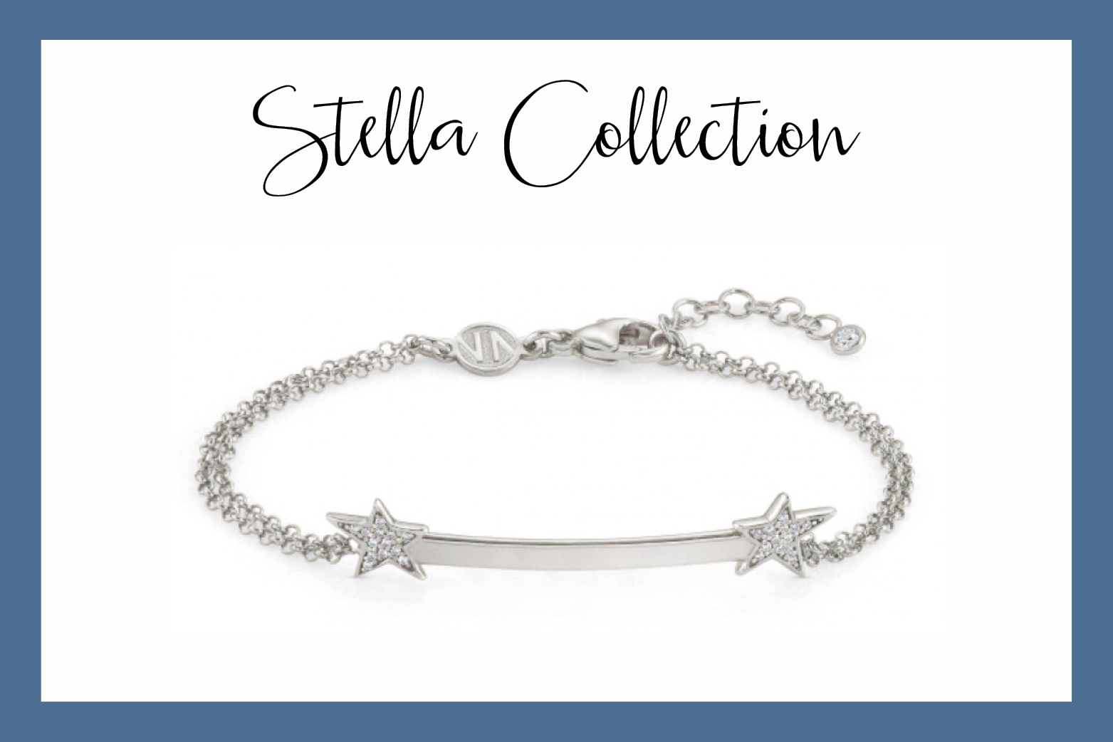 Bracelet with Stars and Cubic Zirconia