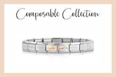 Pulsera Composable Classic Hermana e infinito