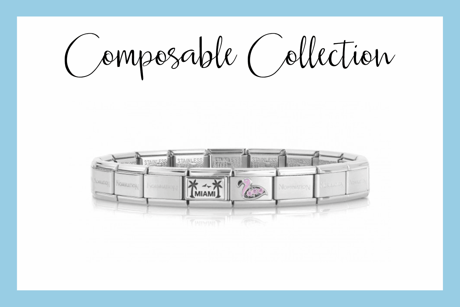 Classic Composable Bracelet with Miami written