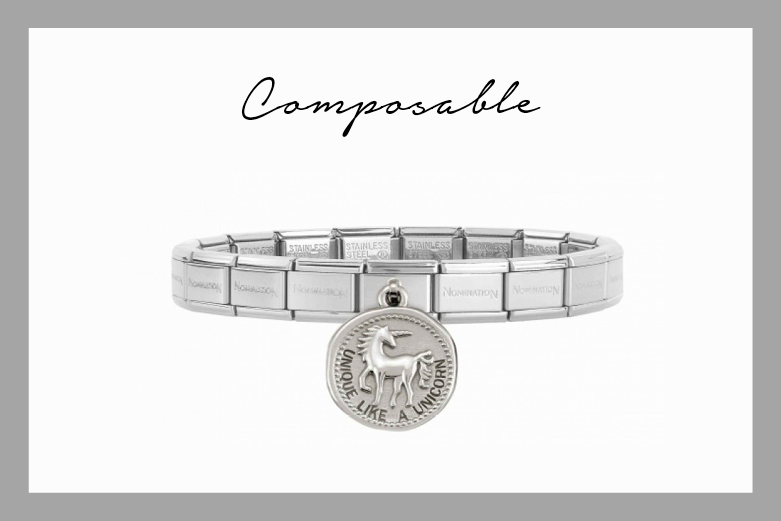 Pulsera Composable con colgante Unicornio